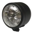 "Universal 3.5"" Single Headlight Lamp - Matt Black"